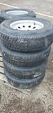 Set/ 4 New ST225/75-15 Trailer Tires/Wheels