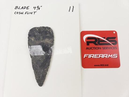 "Large blade, 4 5/8"" Coshocton flint"