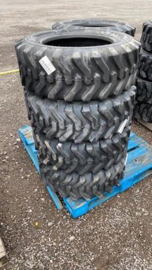 Set-4 New 10-16.5 Skid Steer Tires