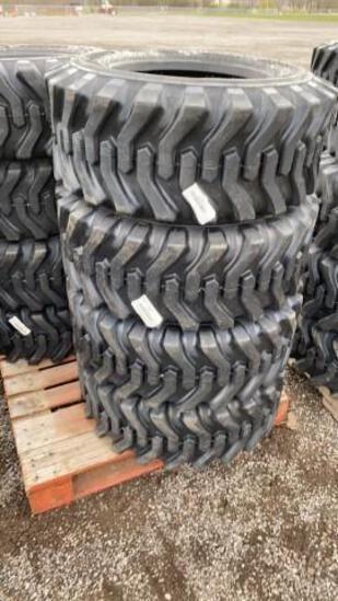Set-4 New 12-16.5 Skid Steer Tires
