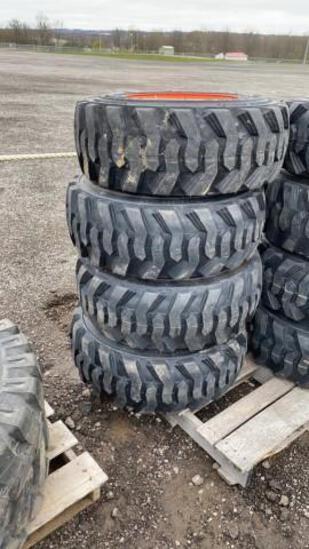 Set-4 New 12-16.5 Skid Steer Tires/Wheels