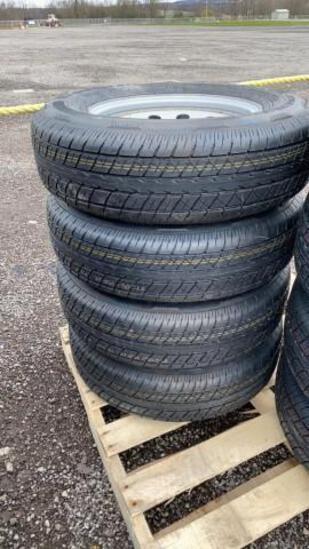 Set-4 New ST205/75-15 Trailer Tires/Wheels