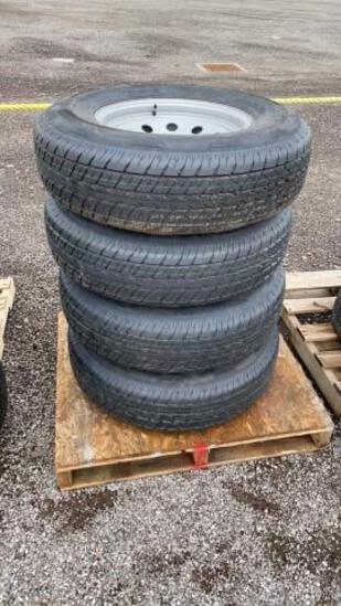 Set-4 New ST235/80-16 Trailer Tires/Wheels