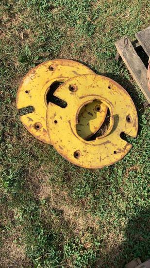 John Deere pair of wheel weights