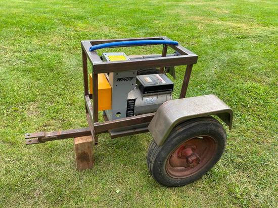 Winco 15kw pto generator on cart, never used