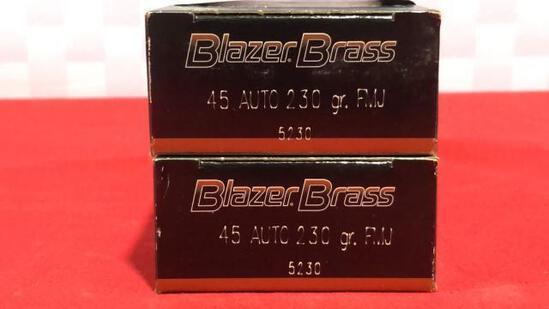 100rds Blazer 45 Auto Ammo