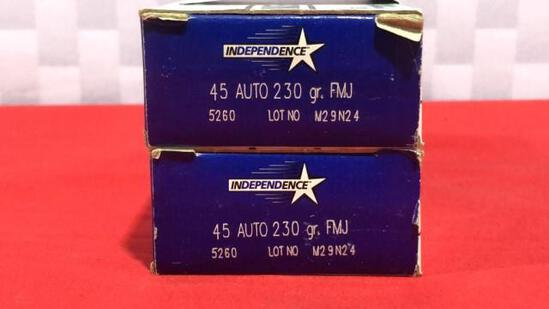 100rds Independence 45 Auto Ammo