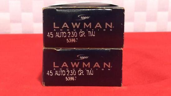 100rds Lawman 45 Auto Ammo