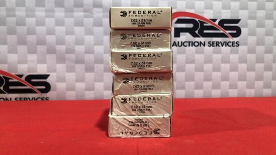120rds Federal 762x51mm 149gr FMJ Ammo