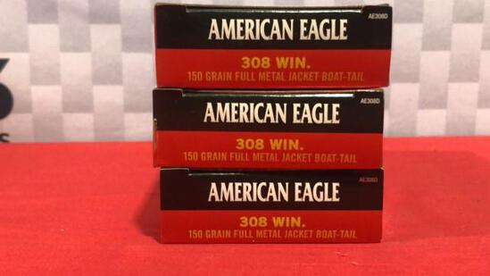 60rds Federal 308 Win Ammo