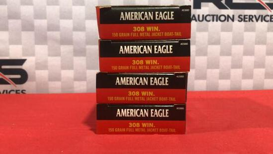 80rds Federal 308 Win Ammo