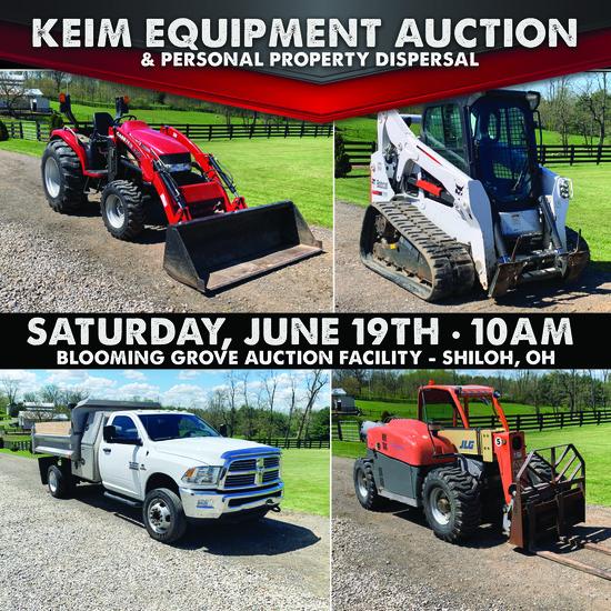Keim Equipment Dispersal Auction