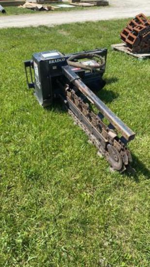 Bradco 625 Trencher, quick attach