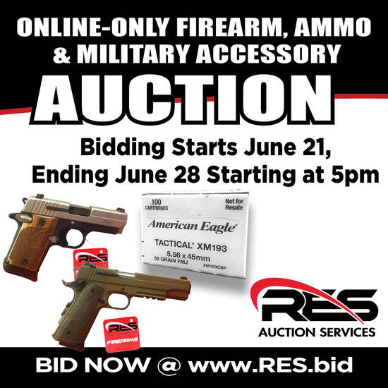 RES Firearms & Ammo  Online Only Auction