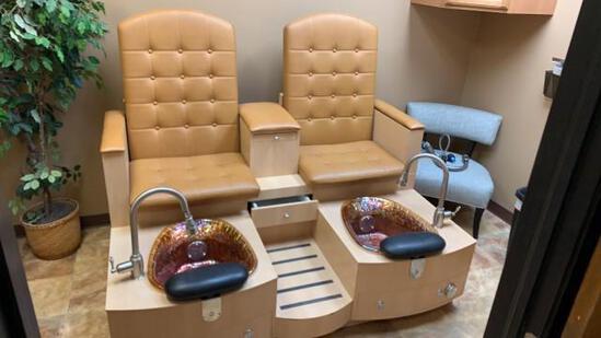 La Fleur Double Pedicure Massage & Jets Chair