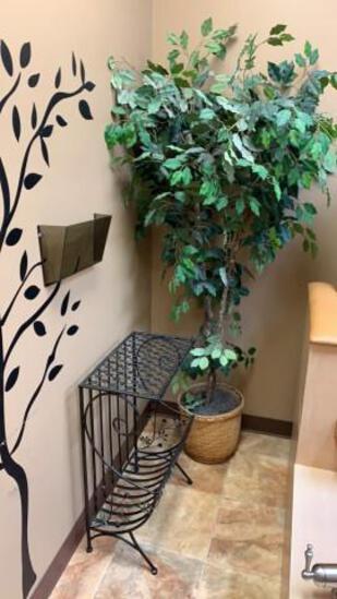 Metal rack and Decorative Tree
