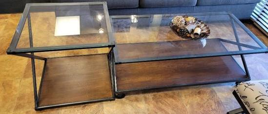 Glass Coffee Table and Stand
