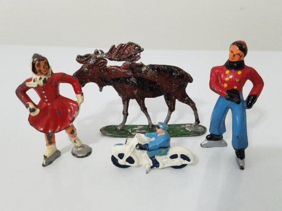 Lot of antique metal toys