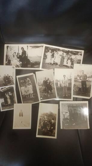Black & white vintage photograph lot