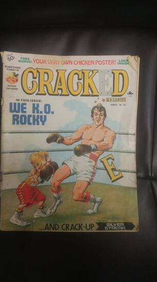 1977 Cracked magazine Rocky cover