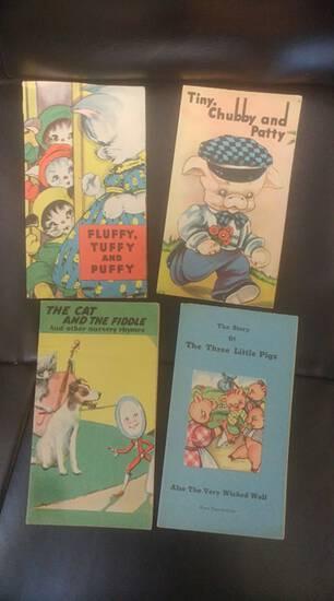 Lot of 1940s illustrated children's books