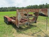 Goose neck equipment trailer