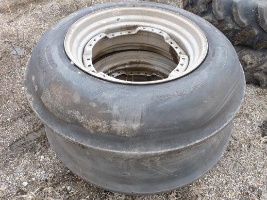 "(2) 12.4-30"" Single Rib Tires on Magnum Rims"