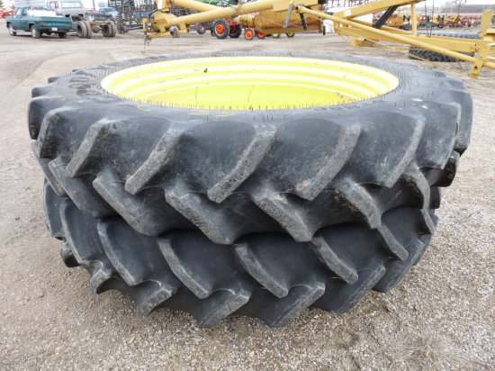 (2) Goodyear 380/90R-50 Tractor Tires with Rims