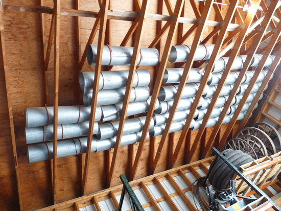 """26 4 Foot Sections of 12"""" Aireation Tubes"""