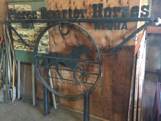 Metal Quarter Horse Sign