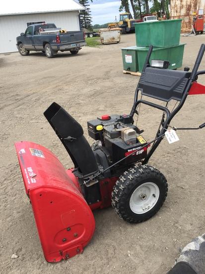"""Yard Machines 8 HP 26"""" Snow Blower"""