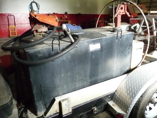 100 Gallon Field Service Tank with 12V Pump