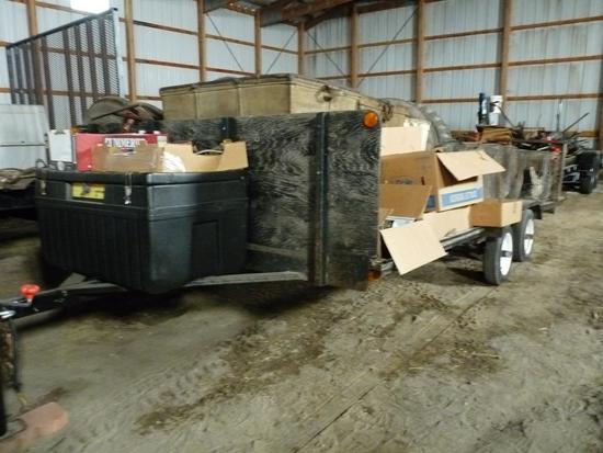 Tandem Axle 4 Place snowcat trailer