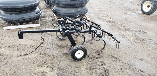 Pull Type 4' Cultivator for ATV with Electric Lift