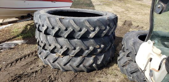 """Three 380/90R-50"""" Tractor Tires"""