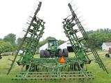 John Deere 960 36' Field Cultivator with John Deere 3 bar harrow