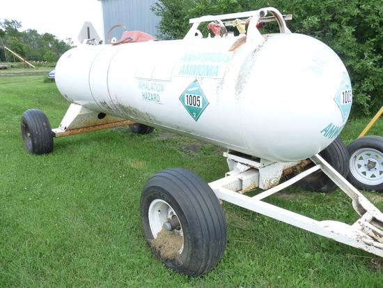 1,000 Gallon Ammonia Tank