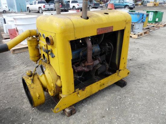 V8 Ford Power Unit on Skids