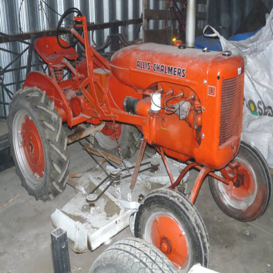 """B-Allis Chalmers with 60"""" Belly Mower"""