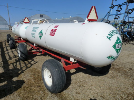 1,000 Gallon Ammonia Nurse Tank