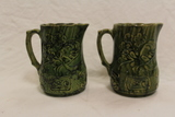 Set of 2 Green Pitchers