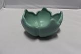 Van Briggle Lotus Bowl, Turquoise