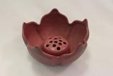 Van Briggle Lotus Bowl w/frog