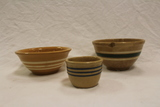 Set of 3 Yellow Ware Bowls