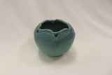 Van Briggle Philodendron Reticulated Vase, Turquoise