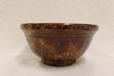 Brown / Yellow Spongeware Bowl