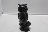 Van Briggle Owl in Jet Black Glaze