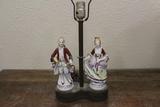 Porcelain Lamp w/Brass Base