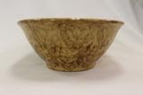Spongeware Bowl - Yellow/Brown