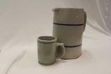 Pitcher and Mug Stoneware Set